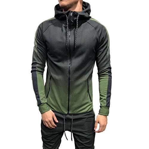 De Capuche Lonshell Pièces 2 Tenue Ensemble vert Top pantalon Suit Sport Capuche Fit sweat b Pantlaon Sweat Homme Survetement Sweatshirt Slim 1 BqWqdaR