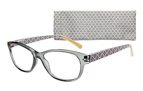 Bailey Women's Fashion Oval Reading Glasses by ICU (1.25, ()