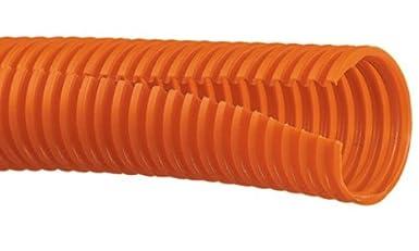 Black 100-Foot Panduit CLTS62F-C Solid Corrugated Loom Tubing