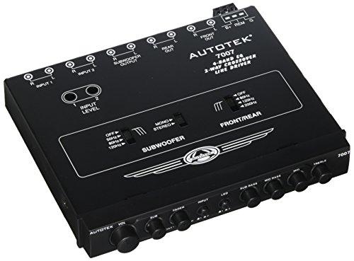 Equalizer Crossover - AUTOTEK 7007 Half-Din 4-Band 2-Way Equalizer/Crossover