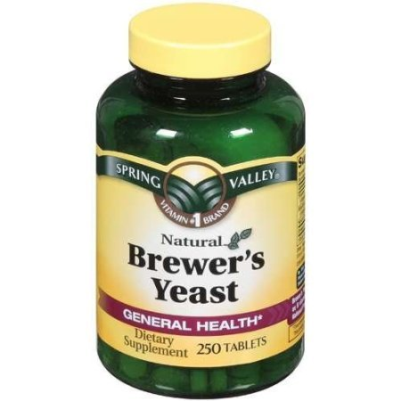 Spring Valley Natural Brewer's Yeast 250 Tablet, Pack of 2 (500 Total)