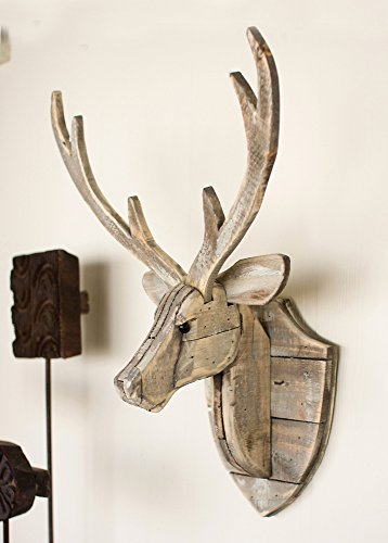 (BLACK FOREST DECOR Recycled Wood Deer Head Wall)