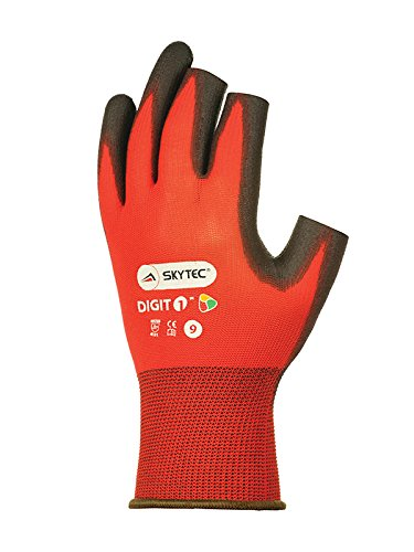 Skytec Gloves SKY71-S Digit 1 Glove, Small, Red/Black