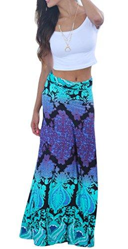 plus size tie dye maxi skirt - 3