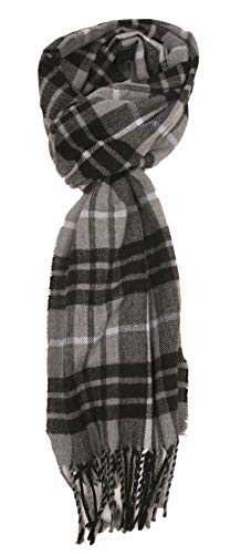 Love Lakeside-Men's Cashmere Feel Winter Plaid Scarf (Grey and Black) ()