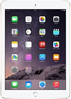 Apple iPad Air 2, 64GB, 4G + Wi-Fi - Gold (Renewed)