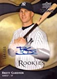 #1: 2009 Upper Deck Icons #155 Brett Gardner Certified Autograph Baseball Card – Only 600 made!