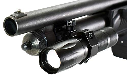 Trinity 1000 lumen hunting tactical light for mossberg Maverick 88 picatinny weaver base optics adapter single rail mount