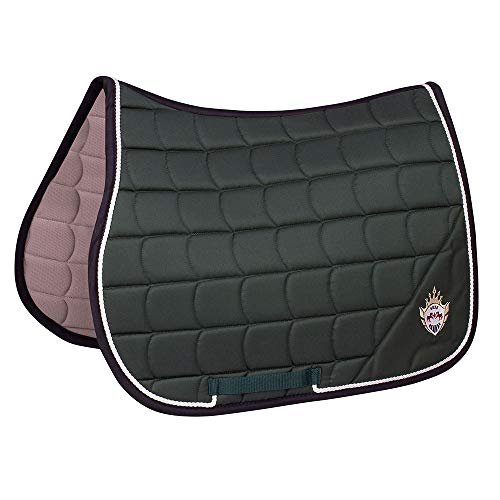 Equine Couture Owen All Purpose Saddle Pad | Horse Riding Equestrian Saddle Pad | Size- Standard | Color- Hunter ()