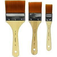 Brochas de pintura Taklon doradas Royal Brush, tamaños surtidos, juego de 3
