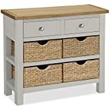 be5fc188ecf9 GREYSTOKE PAINTED GREY OAK SMALL CONSOLE TABLE HALL TABLE SOLID WOOD ...