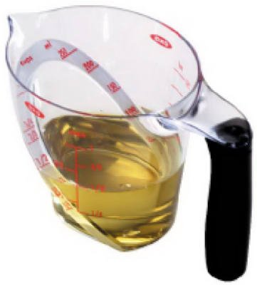 OXO International 70881 Good Grips Measuring Cup, Angled, Plastic, 8-oz. - Quantity 6