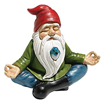 8c0aaf7fcee75 Design Toscano Zen Garden Gnome Statue, 8 Inch, Polyresin, Full Color