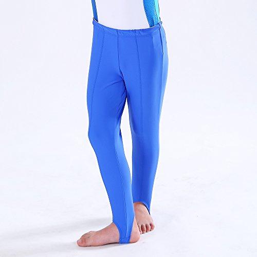 - N-Dance Boy's and Men's Stirrup Pants Ballet Hold Full Length Stretchy Gymnastics Leggings NT1712103,Royal,SC/100-114CM/17-23KG