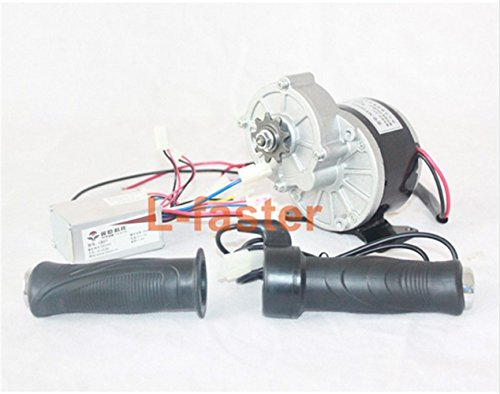 24V 250W Electric DC Motor + Controller + Throttle Electric Bike Brush Motor Conversion Kit Electric Scooter Motor kit (Type A)