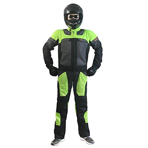 【ヒトミ hitomi】Riding Tribe バイクウェア 上下セット 2点セット バイクジャケット 3シーズ メンズ バイクパンツ メッシュ プロテクター付き  M~3XL展開 (M, 2点セット) B074K2PPCF
