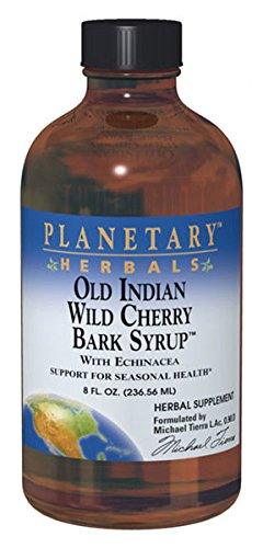 Herbal Syrup Echinacea (Planetary Herbals  Old Indian Wild Cherry Bark Syrup, with Echinacea , 8-Ounce (Pack of)
