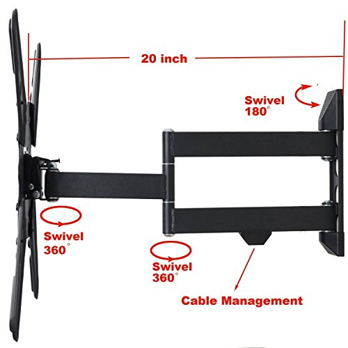 """VideoSecu Full Motion Articulating TV Wall for Philips 55"""" 55PFL5402/F7 55PFL5601/F7 50"""" 50PFL5901/F7 50PFL5601/F7 50PFL4901/F7 49PFL6921/F7"""