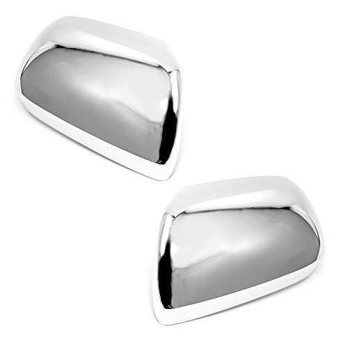 LJ INTERNATIONAL Quality Accessories Triple Chrome Plated Closed-Signal Full Mirror Covers Compatible with Toyota Tacoma/Sienna -