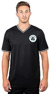 UNK NBA Mens NBA Men's Air Mesh Team Logo V-Neck Jersey T-Shirt GTM2522F-HR-L-P, Mens, NBA Men's Air Mesh Team Logo V-Neck Jersey T-Shirt, GTM2522F-BC-BLK-S, Black, Small