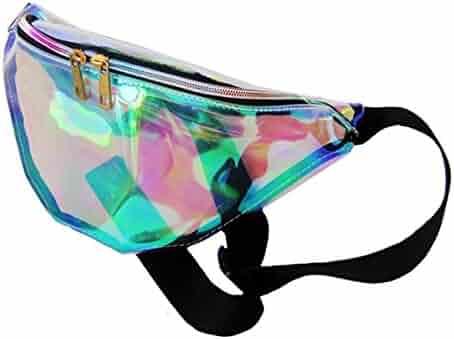 Dolores Women's PVC Hologram Fanny Pack Belt Waist Bum Bag Laser Travel Beach Purse