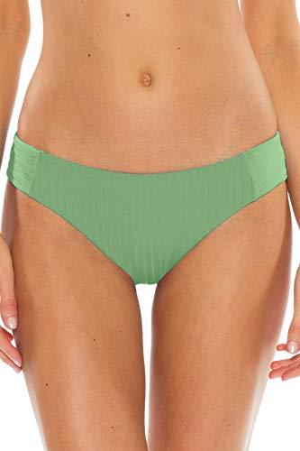 - Becca by Rebecca Virtue Women's Tab Side Hipster Bikini Bottom Spring Leaf XL