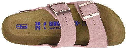 Birkenstock Arizona Leder Softfootbed - Mules Mujer Rosa (Rose)