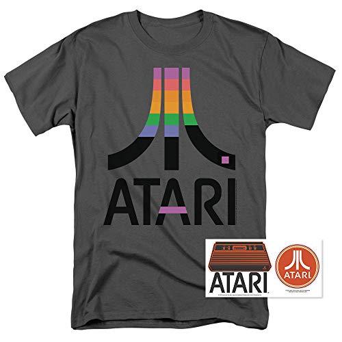 Retro Video Game T-shirt - Atari Logo Retro Video Game Breakout Logo T Shirt & Stickers (Medium)