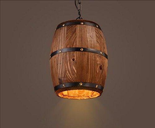 UON Gzz Deng Home Außenbeleuchtung Pendelleuchte Schatten Industrie Hängelampe Kronleuchter Holz Rels 24X33Cm Wohnzimmer Restaurant Schlafzimmer Beleuchtung