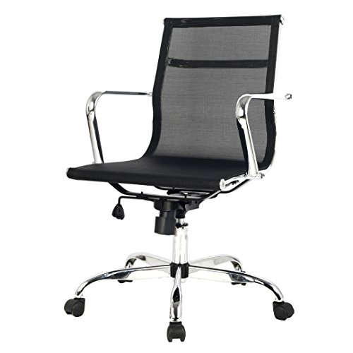 Modern Design Ergonomic Mid-back Executive Computer Desk Task Office Chair - Prices Brisbane Free Duty