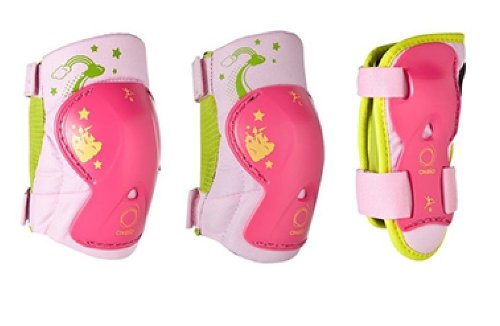 Kinder Inliner Inlineskates Schützer Protektoren SET Arm Bein und Ellenbogenschützer verschiedene Farben und Größen (Rosa Pink, 25-40KG xs)