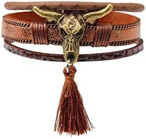 Women's Bracelet Vintage Tassels Accessories Archaize Bullhead Bracelet Accessories