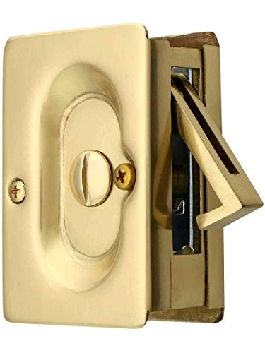 Emtek Pocket Door Privacy Lock Set, Satin Brass ()