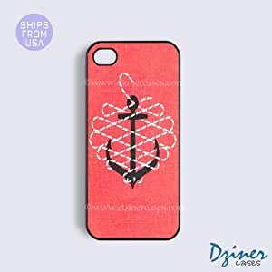 iPhone 6 Plus Tough Case - 5.5 inch model - Pink Anchor Pattern iPhone Cover