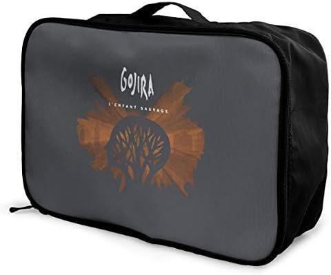 アレンジケース ゴジラ Gojira 旅行用トロリーバッグ 旅行用サブバッグ 軽量 ポータブル荷物バッグ 衣類収納ケース キャリーオンバッグ 旅行圧縮バッグ キャリーケース 固定 出張パッキング 大容量 トラベルバッグ ボストンバッグ