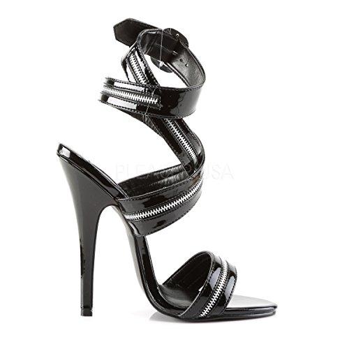 PleaserUSA Womens High Heels Sandals Domina-119 black patent Ee3b76of5l