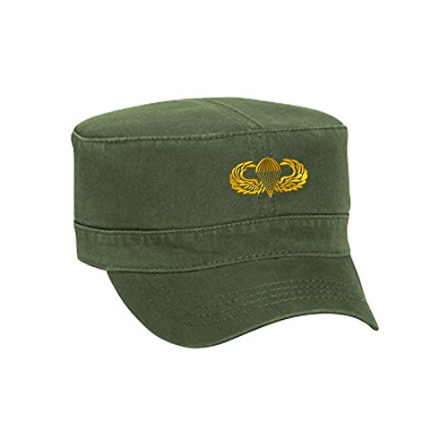 Speedy Pros Airborne Military Embroidery Adjustable Structured Baseball Hat Gray