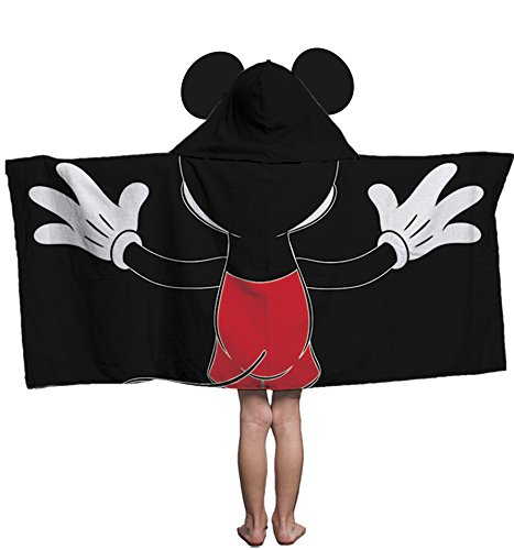 Disney Mickey Mouse Cotton Hooded Bath/Pool/Beach Towel