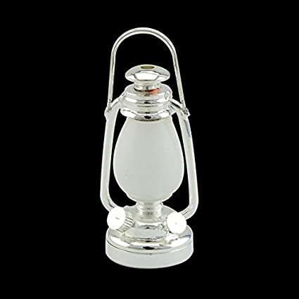 Battery 1//6 1:6  LED OIL LAMP Barbie Dollhouse miniature lantern light SILVER