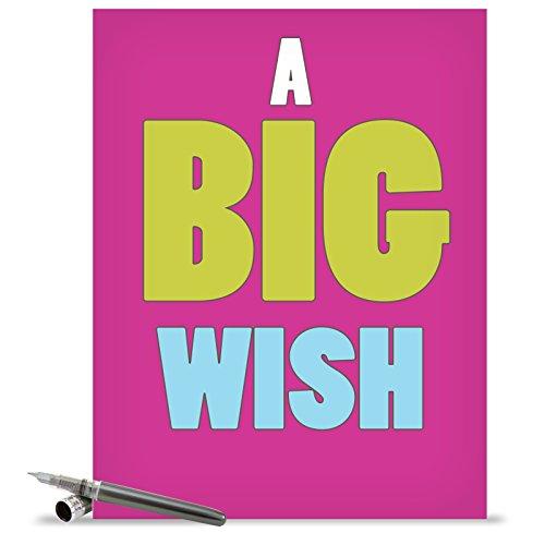 Free J1420K Jumbo Funny Blank Birthday Card: A Big Wish With Envelope