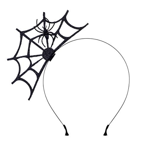 Halloween Spider Web Fasciantor Spider Spiderweb Halloween Party Head Piece (Black) (Black)