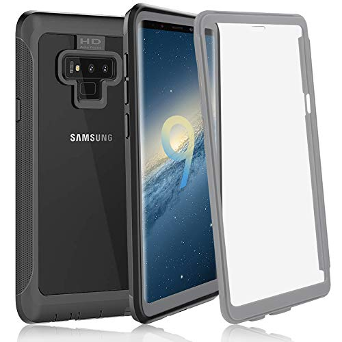 ShellBox Samsung Galaxy Note 9 Case, Ultra Thin Clear Cover Built-in Anti-Scratch Screen Protector Full Body Heavy Duty Protection Slim Fit Shock Drop Proof Rugged Cover for Galaxy Note 9(2018) by ShellBox