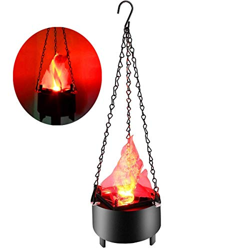 (LED Artificial Fake Fire Flame Light 3D Flickering Fire Flame Electronic Flame Night Light Prop Simulated Flame Lamp for Halloween Christmas Night Clubs Party Decoration (Standard)