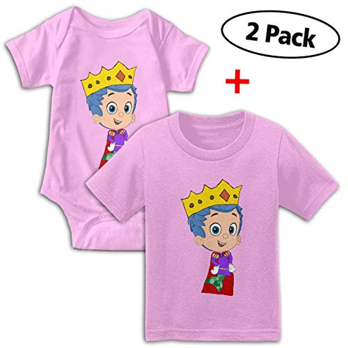 Bubble Guppies Babys Boy's & Girl's Short Sleeve Romper Bodysuit Outfits And Tshirt