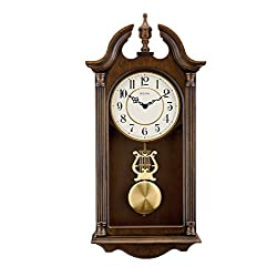 Bulova C1517 Saybrook Wall Clock, Brown Cherry