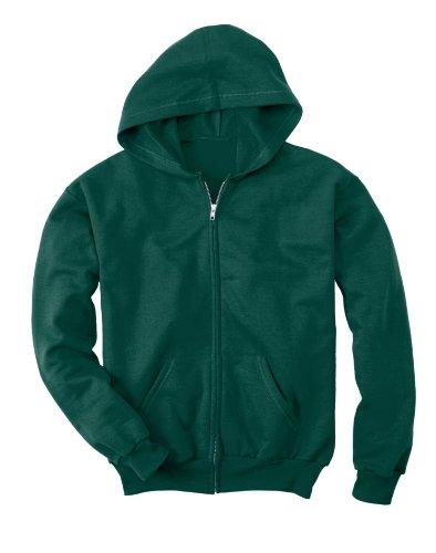 Hanes 7.8 oz Youth COMFORTBLEND EcoSmart Fleece Full-Zip Hood Hanes Youth Short