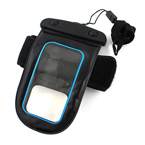Amazon.com: eDealMax Negro impermeable de Los deportes Correr teléfono caja del teléfono móvil del bolso del brazal w: Electronics