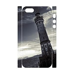 3D Bumper Plastic Customized Case Of Lighthouse for iPhone 5,5S