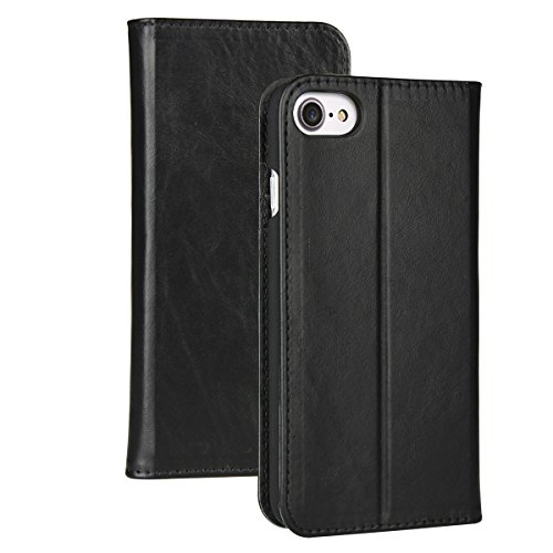 iPhone 6s Case Wallet - Valkit iPhone6 Genuine Leather Wallet Case, Protective Folio Case Flip Cover with Stand (Leather Stand Wallet)