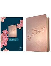 NLT Thrive Devotional Bible for Women (Leatherlike, Rose Metallic )